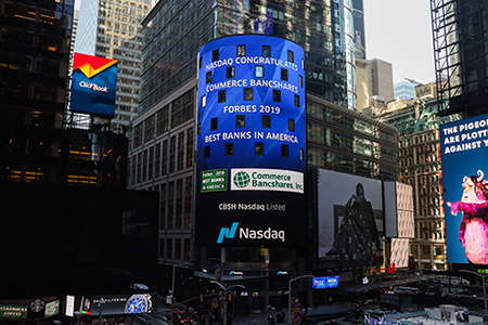 Commerce Bank on Times Square Board