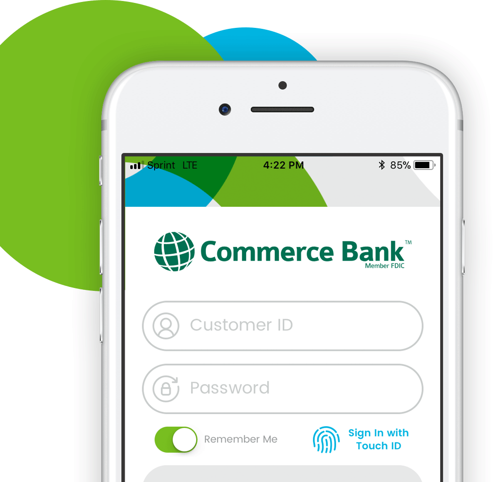 Online Features For Personal Banking Commerce Bank