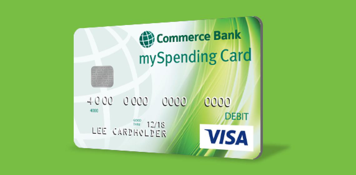 commerce myspending card - Bank Prepaid Debit Card