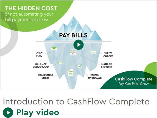The hidden cost, pay bills, CashFlow Complete