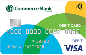 Commerce Bank Contactless Visa Debit Card