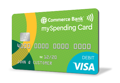 Prepaid Reloadable Card mySpending Card® Commerce Bank