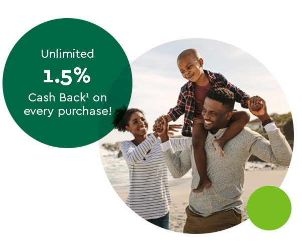 Unlimited 1.5% Cash Back(1) on every purchase.