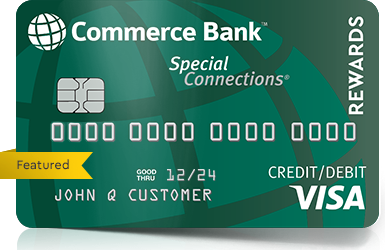 Featured Special Connections Visa Credit Debit Card