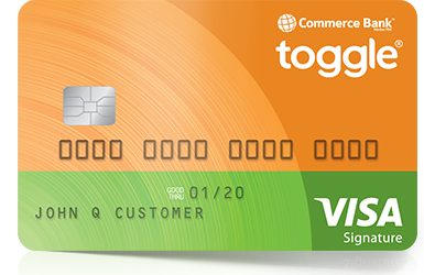 toggle credit card