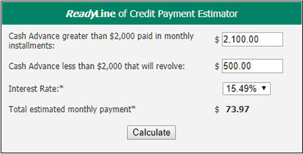 ReadyLine of Credit Example