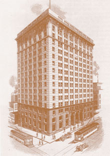 Drawing of a Commerce Bank Building circa 1906