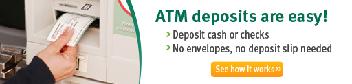 ATM deposits are easy