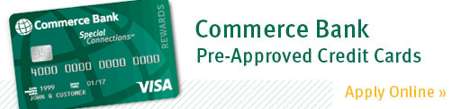 Commerce Bank Pre-Approved Credit Cards
