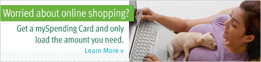 Worried about online-shopping? Get a mySpending card today!