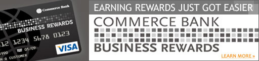 Earning rewards just got easier with the Commerce Bank Business Rewards card.