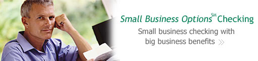 Small Business Options(SM) Checking - Checking with big business benefits.