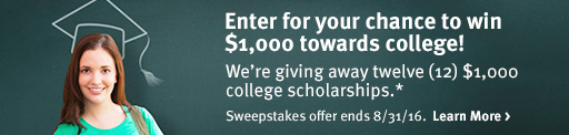 Enter for your chance to win $1,000 towards college! >