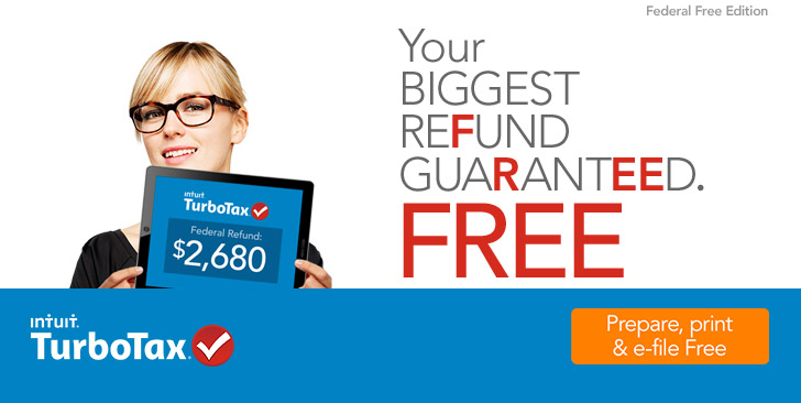 TurboTax. Your biggest refund guaranteed. Free.