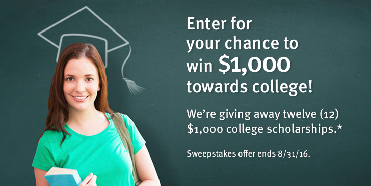 Enter for your chance to win $1,000 towards college!